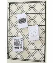 Memobord wire zwart 60 x 40 cm 10151295
