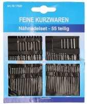 Naaisetje met naalden diverse formaten 55 delig