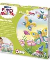 Oven verhardende klei pakket vlinder