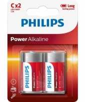 Philips powerlife batterijen lr14 c 2 stuks