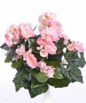 Roze begonia binnenplant kunstplant 30 cm