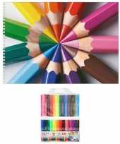 Schetsboek potloden thema a4 50 paginas met 50 viltstiften