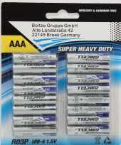 Set van 16x aaa super heavy duty alkaline batterijen r03p um 4 1 5 v