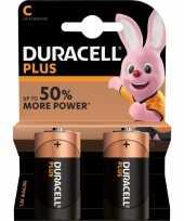 Set van 2x duracell c plus alkaline batterijen lr14 mn1400 1 5 v