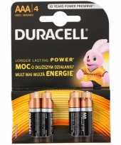 Set van 4 aaa batterijen duracell