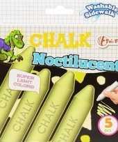 Speelgoed schoolbordkrijt glow in the dark 5 stuks