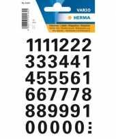 Stickervel met 72x cijfers in het zwart van 1 5 cm
