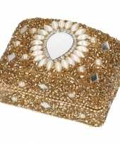 Tandendoosje goud oriental 8 cm