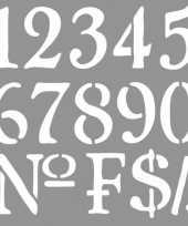 Teken sjabloon voor cijfers