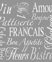 Teken sjabloon voor franse teksten