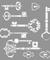 Teken sjabloon voor sleutels