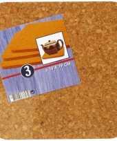 Vierkante onderzetters 3 stuks